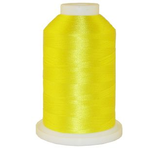 Real Yellow # 1102 Iris Polyester Embroidery Thread - 1100 Yds