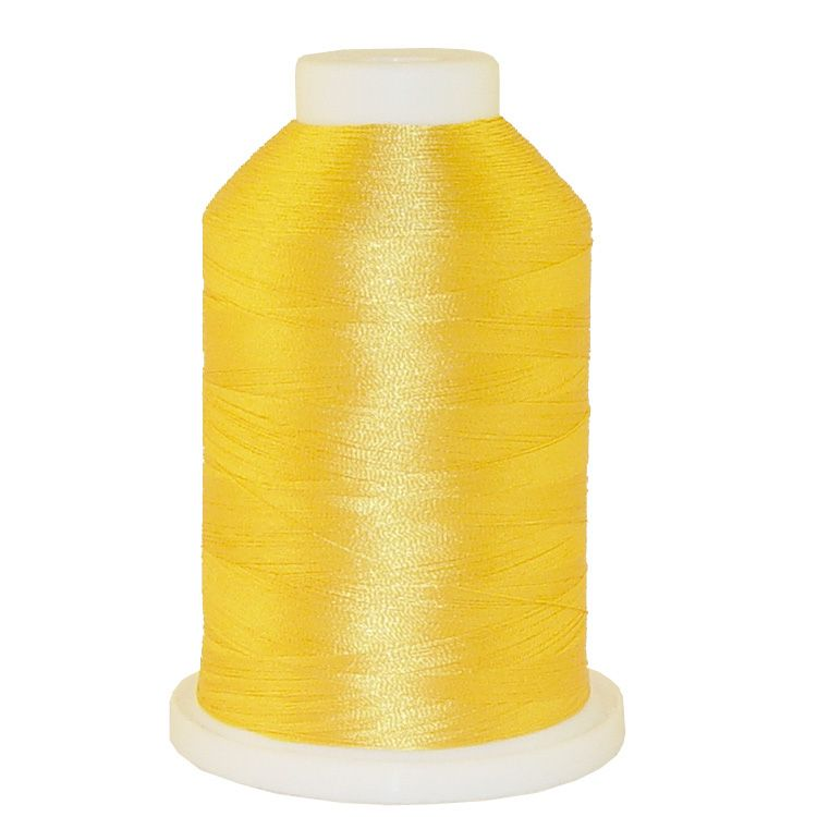 Canary Yellow # 1108 Iris Trilobal Polyester Machine Embroidery & Quilting Thread - 5500 Yds