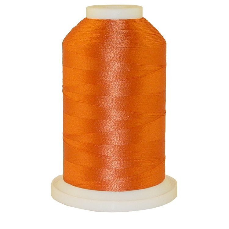 Rust # 1117 Iris Trilobal Polyester Machine Embroidery & Quilting Thread - 5500 Yds