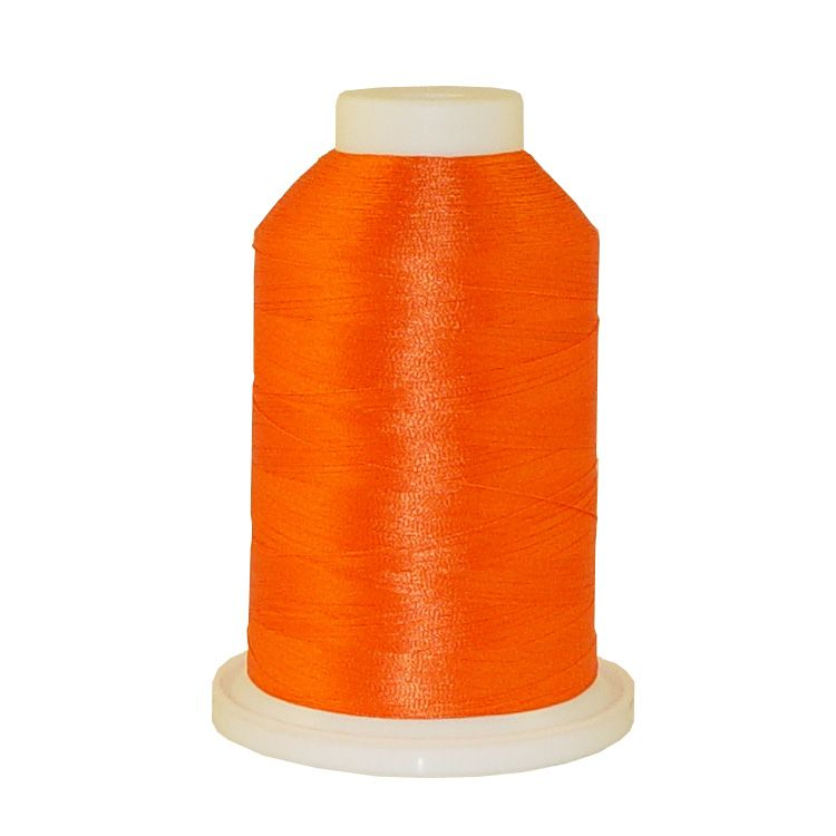 Orange # 1119 Iris Trilobal Polyester Machine Embroidery & Quilting Thread - 5500 Yds