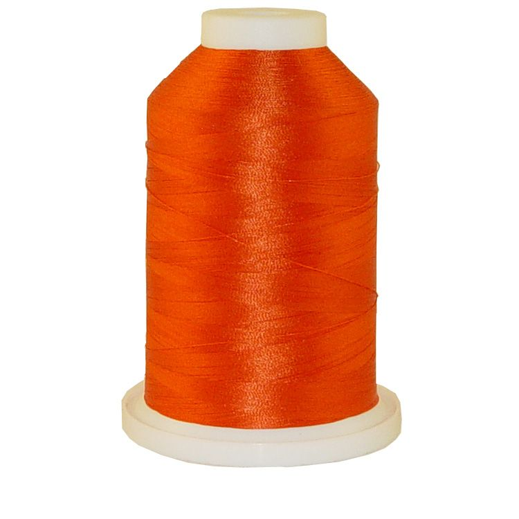 Orangeade # 1122 Iris Trilobal Polyester Machine Embroidery & Quilting Thread - 5500 Yds