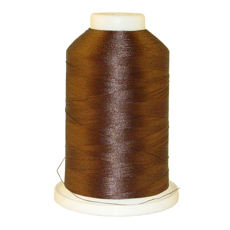 Soft Chocolate # 1147 Iris Trilobal Polyester Machine Embroidery & Quilting Thread - 5500 Yds