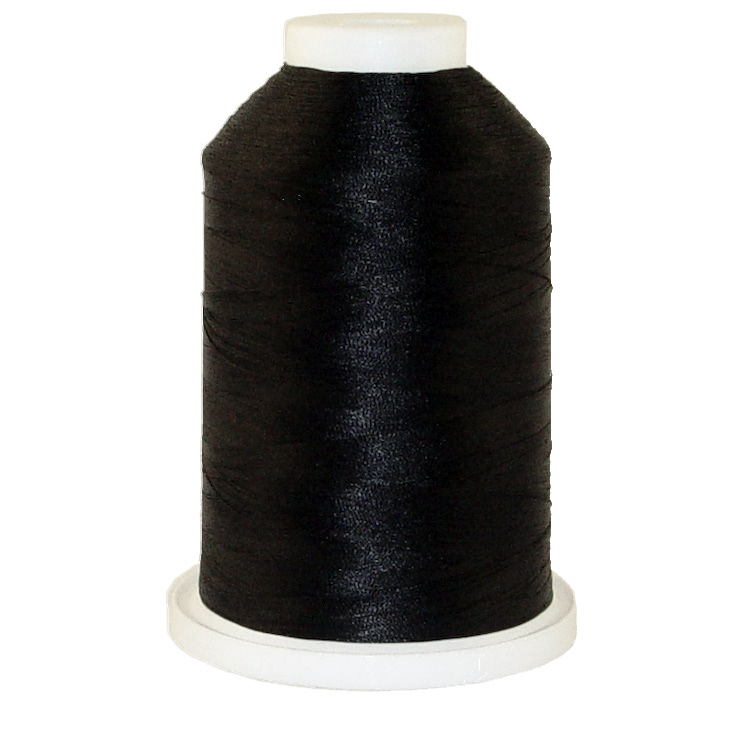 Black # 1152 Iris Polyester Embroidery Thread - 1100 Yds