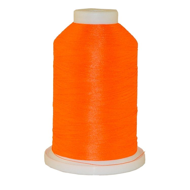 Neon Orange # 1164 Iris Trilobal Polyester Machine Embroidery & Quilting Thread - 5500 Yds