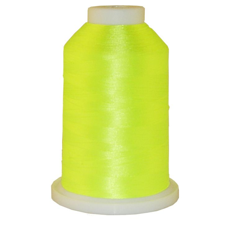 Neon Yellow # 1166 Iris Trilobal Polyester Machine Embroidery & Quilting Thread - 5500 Yds