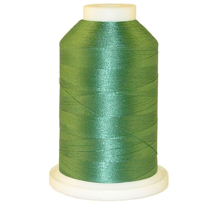 Blue Moss # 1180 Iris Trilobal Polyester Machine Embroidery & Quilting Thread - 5500 Yds