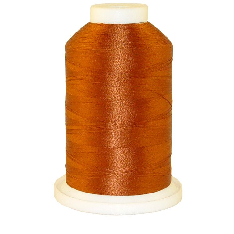 Red Rust # 1189 Iris Trilobal Polyester Machine Embroidery & Quilting Thread - 5500 Yds