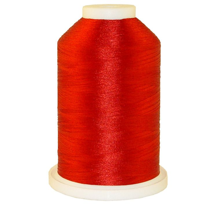 Red # 1190 Iris Trilobal Polyester Machine Embroidery & Quilting Thread - 5500 Yds