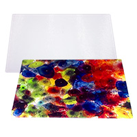 "11"" x 16"" Tempered Glass Cutting Board - Sublimation Blank"
