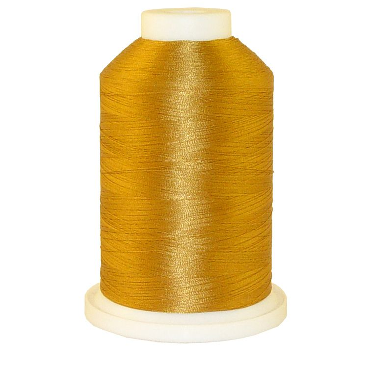 Corral Gold # 1200 Iris Trilobal Polyester Machine Embroidery & Quilting Thread - 5500 Yds
