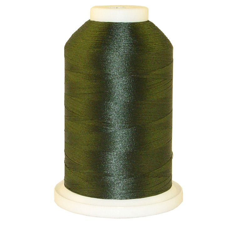 Camp Green # 1215 Iris Trilobal Polyester Machine Embroidery & Quilting Thread - 5500 Yds