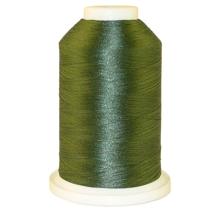 Dark Teal Green # 1216 Iris Trilobal Polyester Machine Embroidery & Quilting Thread - 5500 Yds