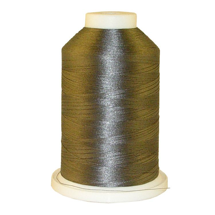 Med. Cool Grey # 1218 Iris Trilobal Polyester Machine Embroidery & Quilting Thread - 5500 Yds