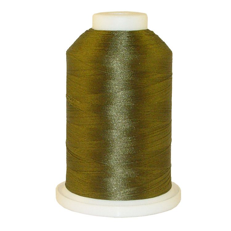 Army Green # 1220 Iris Trilobal Polyester Machine Embroidery & Quilting Thread - 5500 Yds
