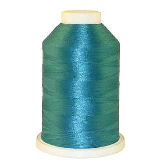 Aqua # 1225 Iris Polyester Embroidery Thread - 1100 Yds