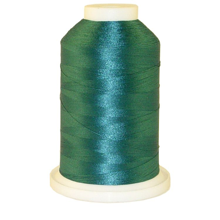 Teal # 1227 Iris Trilobal Polyester Machine Embroidery & Quilting Thread - 5500 Yds