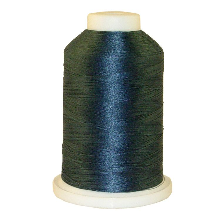 Grey Aqua # 1228 Iris Trilobal Polyester Machine Embroidery & Quilting Thread - 5500 Yds