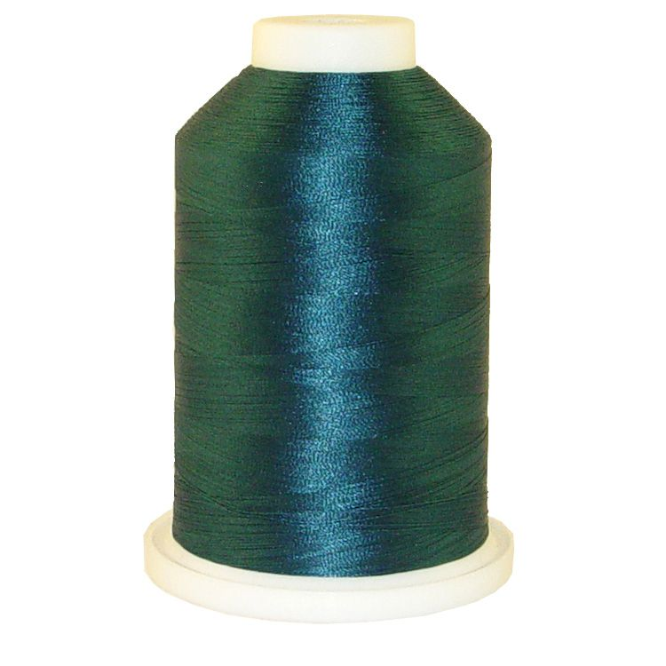 Dark Teal # 1229 Iris Trilobal Polyester Machine Embroidery & Quilting Thread - 5500 Yds THUMBNAIL