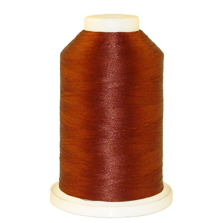 Chocolate Syrup # 1234 Iris Trilobal Polyester Machine Embroidery & Quilting Thread - 5500 Yds
