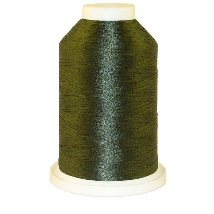 Turkish Green # 1236 Iris Trilobal Polyester Machine Embroidery & Quilting Thread - 5500 Yds