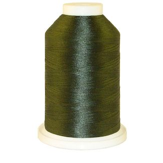 Turkish Green # 1236 Iris Polyester Embroidery Thread - 1100 Yds