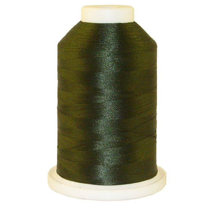 Olive Drab # 1238 Iris Trilobal Polyester Machine Embroidery & Quilting Thread - 5500 Yds