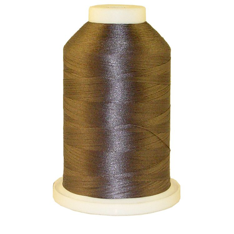 Satellite Grey # 1252 Iris Trilobal Polyester Machine Embroidery & Quilting Thread - 5500 Yds