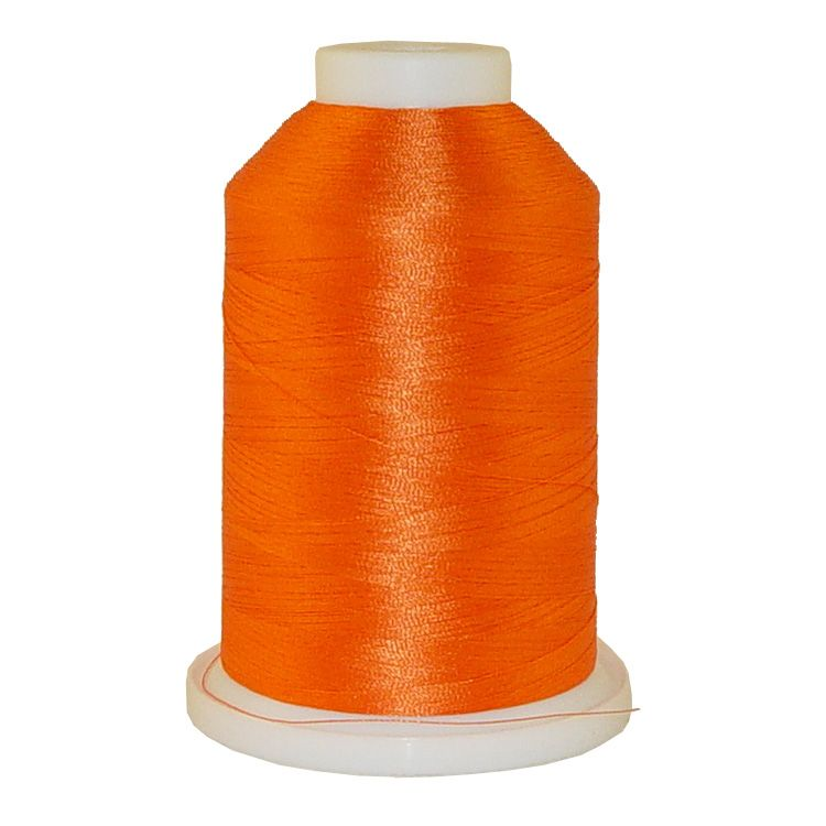 Dark Texas Orange # 1255 Iris Trilobal Polyester Machine Embroidery & Quilting Thread - 5500 Yds