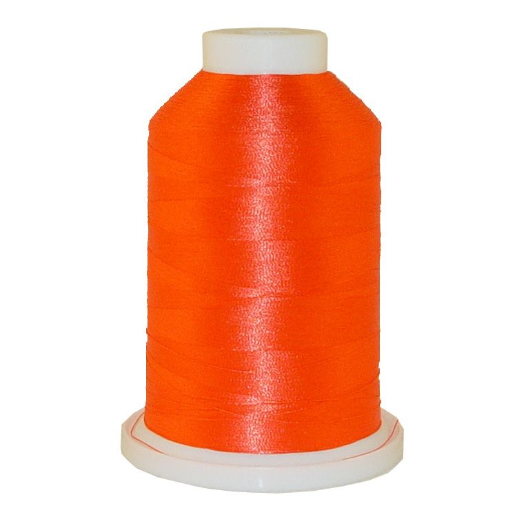 Bright Orange # 1257 Iris Trilobal Polyester Machine Embroidery & Quilting Thread - 5500 Yds