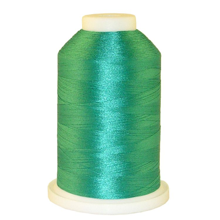 Medium Turquoise # 1270 Iris Trilobal Polyester Machine Embroidery & Quilting Thread - 5500 Yds