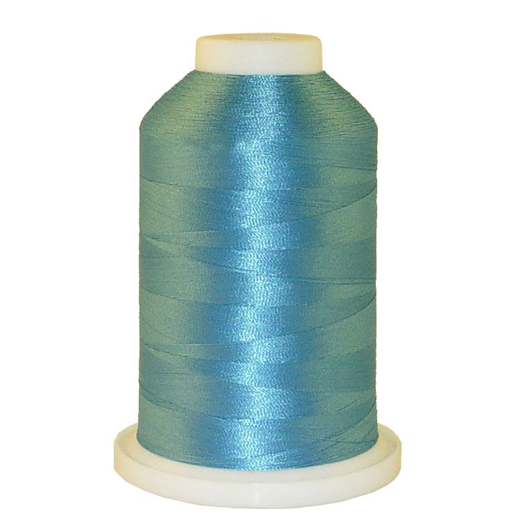 Misty Blue # 1287 Iris Trilobal Polyester Machine Embroidery & Quilting Thread - 5500 Yds