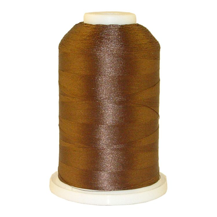 Brown # 1298 Iris Trilobal Polyester Machine Embroidery & Quilting Thread - 5500 Yds
