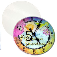 "12"" Round Tempered Glass Cutting Board - Sublimation Blank"