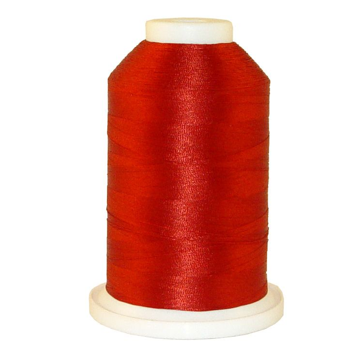 Brick Red # 1308 Iris Trilobal Polyester Machine Embroidery & Quilting Thread - 5500 Yds