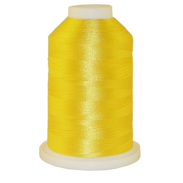 Crayon Yellow # 1314 Iris Trilobal Polyester Machine Embroidery & Quilting Thread - 5500 Yds