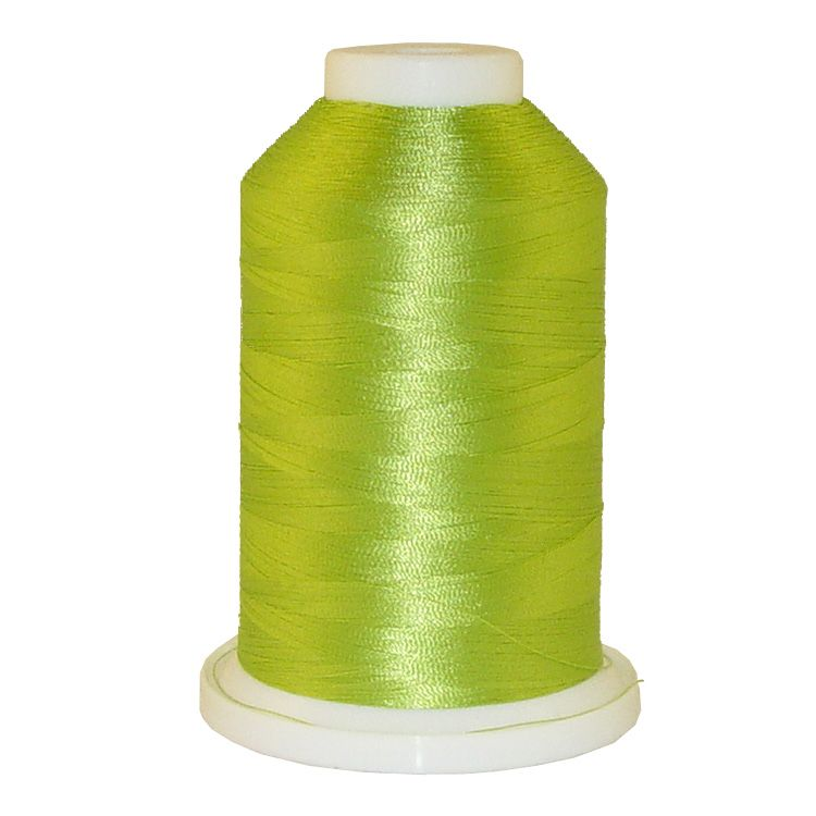 Grass Green Yellow # 1318 Iris Trilobal Polyester Machine Embroidery & Quilting Thread - 5500 Yds