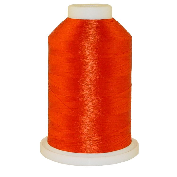 Burnt Orange # 1330 Iris Trilobal Polyester Machine Embroidery & Quilting Thread - 5500 Yds