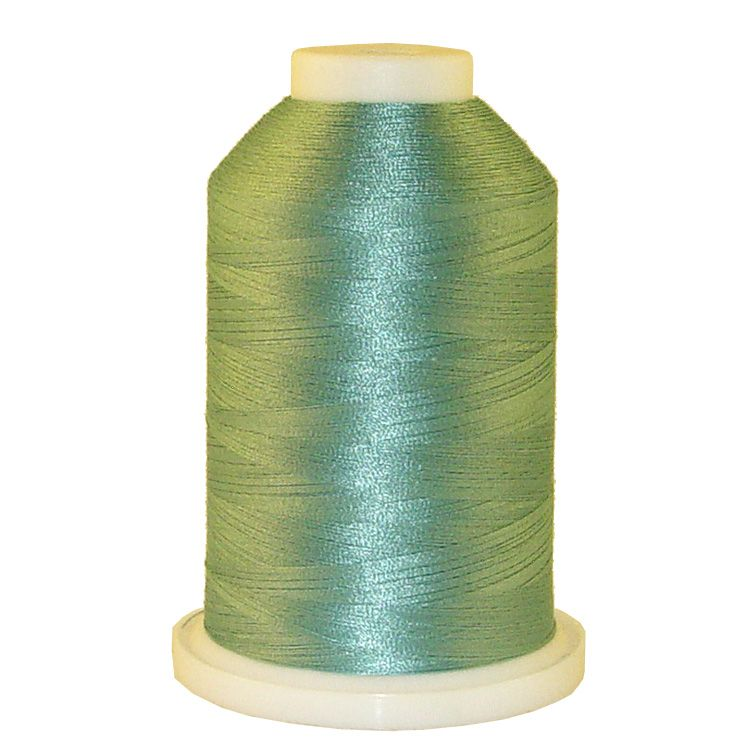 Lt. Salt Water Green # 1338 Iris Trilobal Polyester Machine Embroidery & Quilting Thread - 5500 Yds