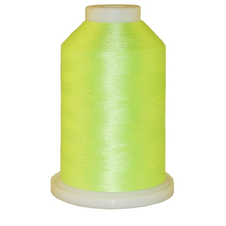 Neon Lime # 1342 Iris Trilobal Polyester Machine Embroidery & Quilting Thread - 5500 Yds