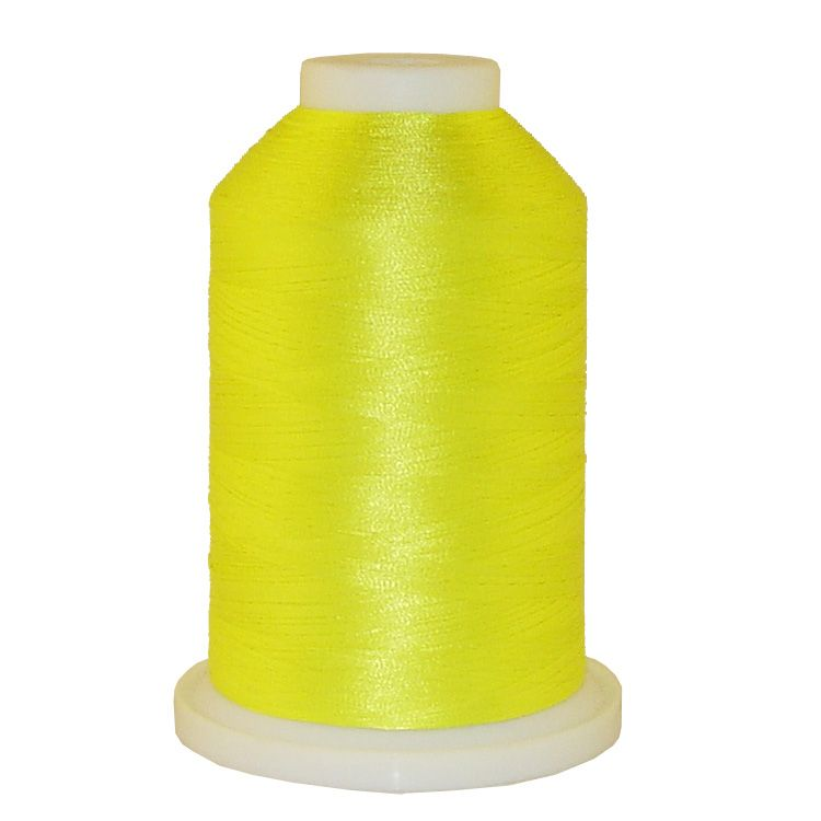 Very Bright Yellow # 1343 Iris Trilobal Polyester Machine Embroidery & Quilting Thread - 5500 Yds