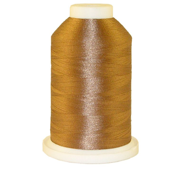 Brown Crystal # 1376 Iris Trilobal Polyester Machine Embroidery & Quilting Thread - 5500 Yds