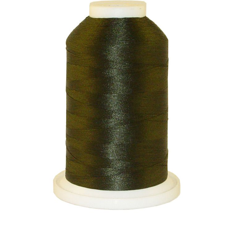 Dark Army Green # 1392 Iris Trilobal Polyester Machine Embroidery & Quilting Thread - 5500 Yds