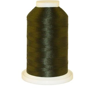 Dark Army Green # 1392 Iris Polyester Embroidery Thread - 1100 Yds