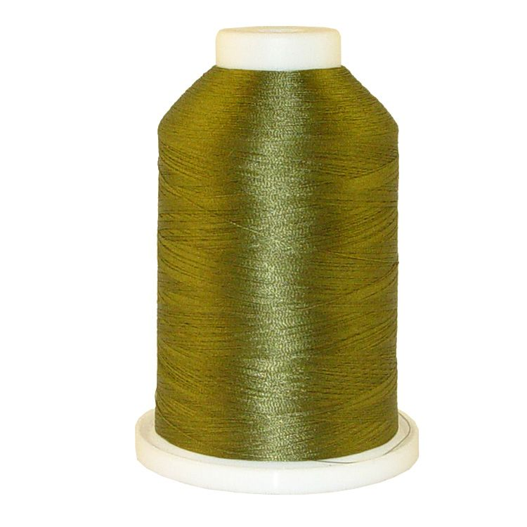 Golden Green # 1394 Iris Trilobal Polyester Machine Embroidery & Quilting Thread - 5500 Yds