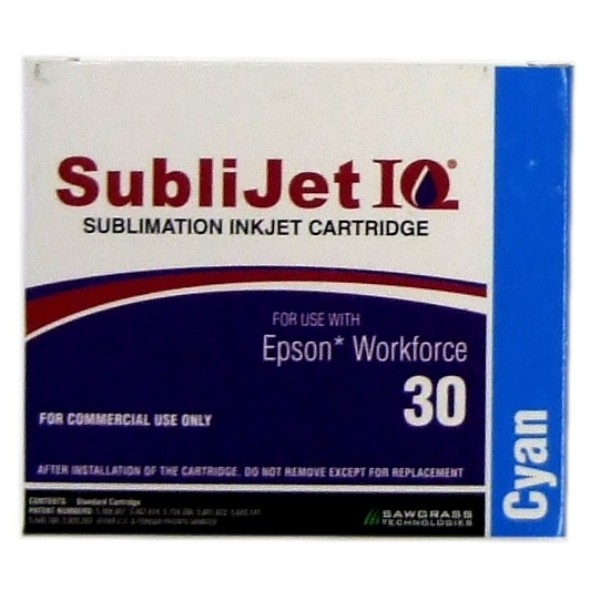Sublijet Sublimation Ink Cyan Two Cartridge Pack Fits Workforce 30