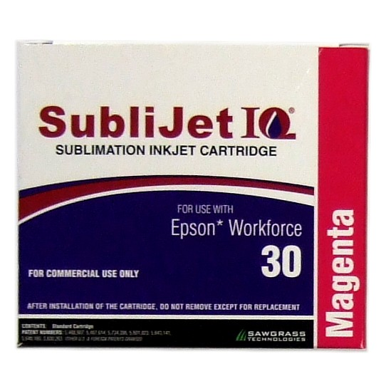 Sublijet Sublimation Ink Magenta Two Cartridge Pack Fits Workforce 30