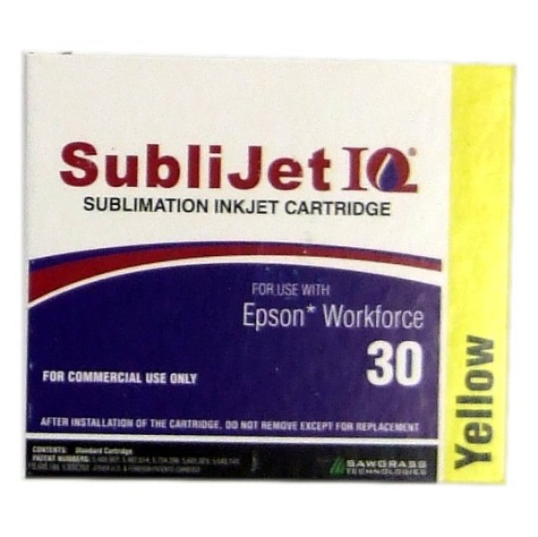 Sublijet Sublimation Ink Yellow Two Cartridge Pack Fits Workforce 30 MAIN