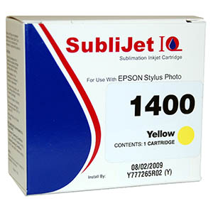 Sublijet Sublimation Ink Yellow Cartridge Fits Epson 1400 MAIN