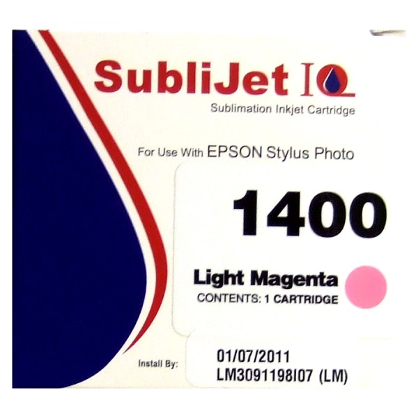 Sublijet Sublimation Ink Light Magenta Cartridge Fits Epson 1400 MAIN