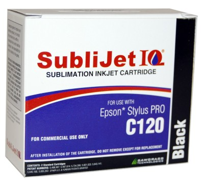 Sublijet Sublimation Ink Black Two Cartridge Pack Fits Epson C120 MAIN